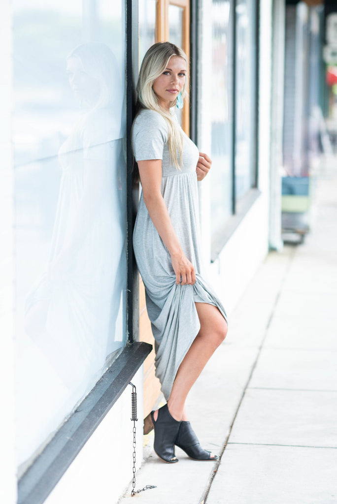 Such A Legend Heather Gray Maxi Dress