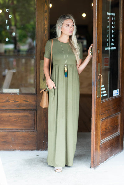Such A Legend Maxi Dress, Olive
