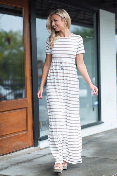 You're A Legend Maxi Dress, Ivory-Mocha