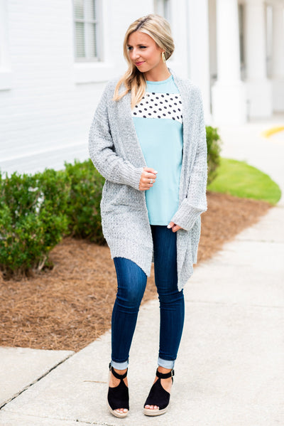 Noteworthy Love Cardigan, Grey