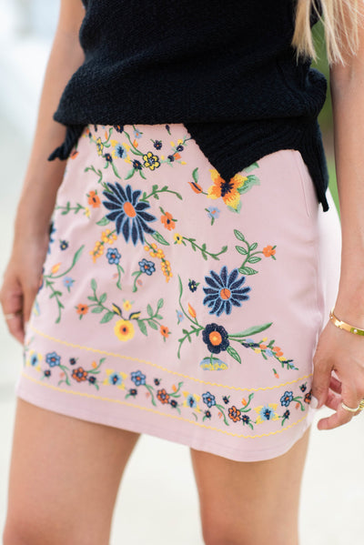 Fascinated By Florals Skirt, Mauve