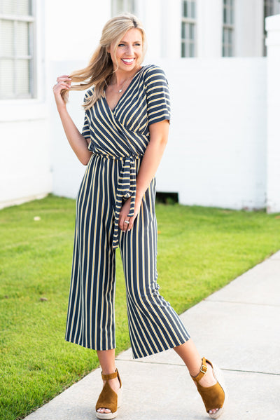 Fearlessly Fab Jumpsuit, Charcoal