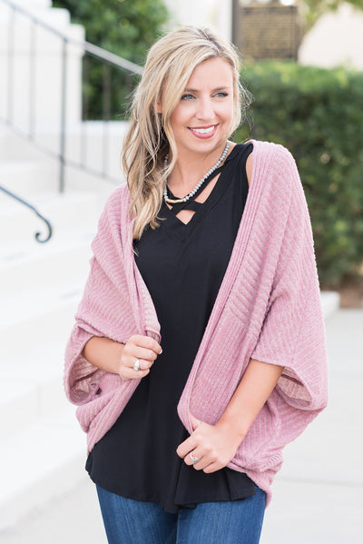 Amplified Love Cardigan, Mauve