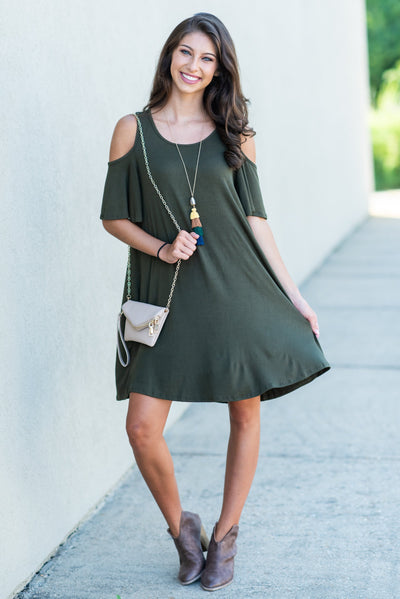Thinking About You Dress, Olive