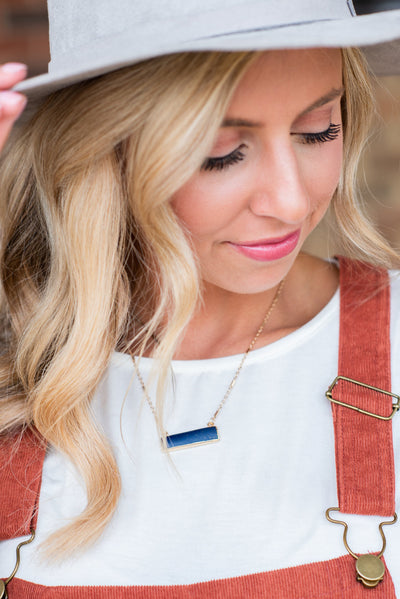 All You've Needed Necklace, Navy