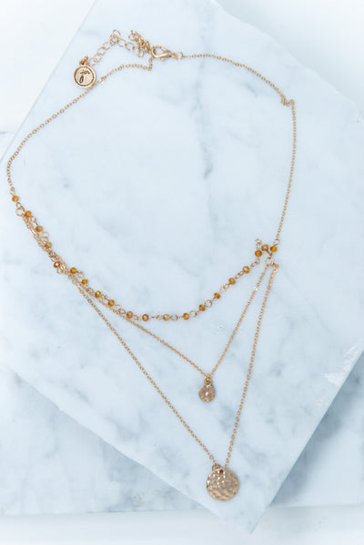 Love Of Layers Necklace, Gold