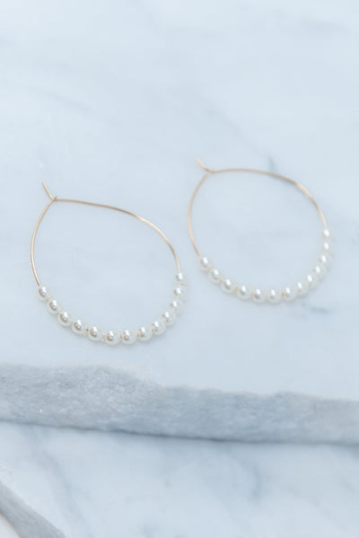 Delicate Beauty Earrings, White