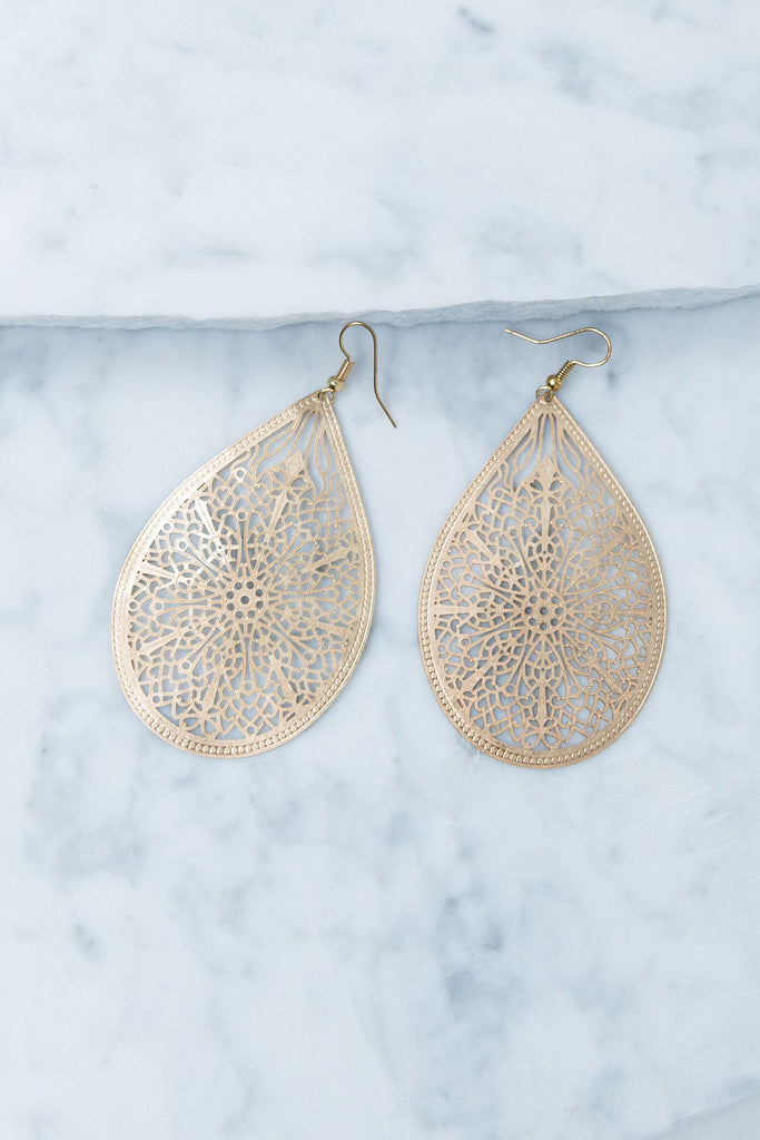 Moroccan Muse Earrings, Gold
