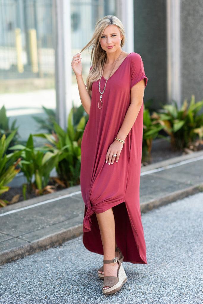 This Is No Dream Maxi Dress, Marsala