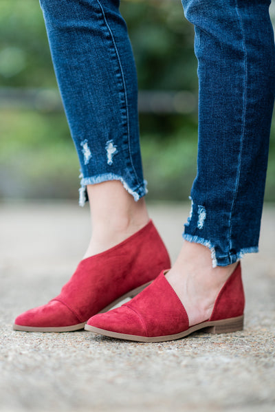 Open Arms Booties, Adobe Red