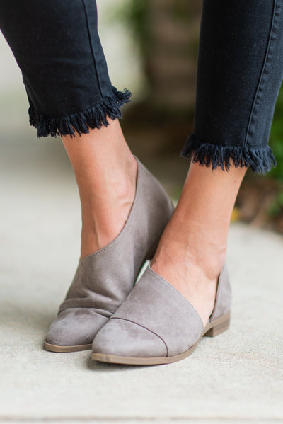 Open Arms Booties, Taupe
