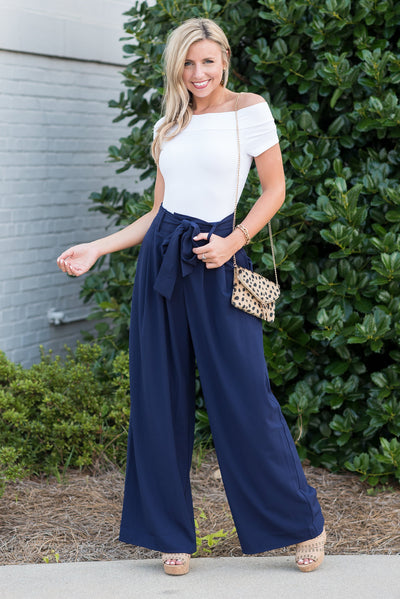 Bossy And Bold Pants, Navy