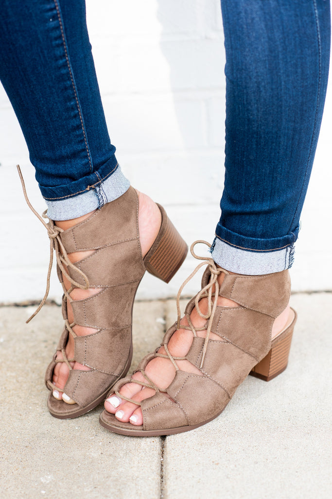 The Most Important Thing Heeled Sandals, Taupe