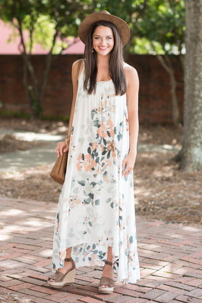 Beautiful Visions Maxi Dress, Nude-Mint