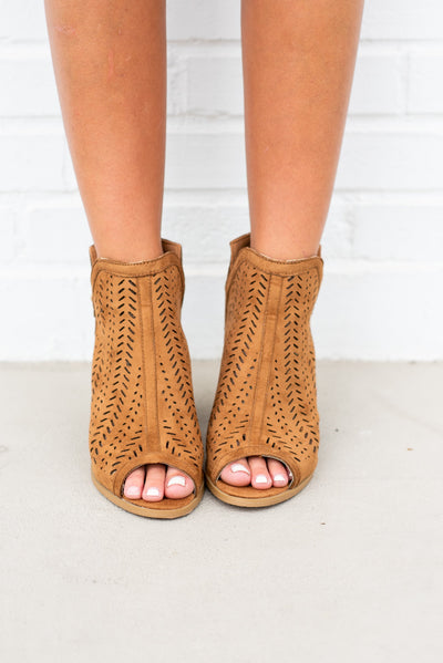 Love To Love You Booties, Tan