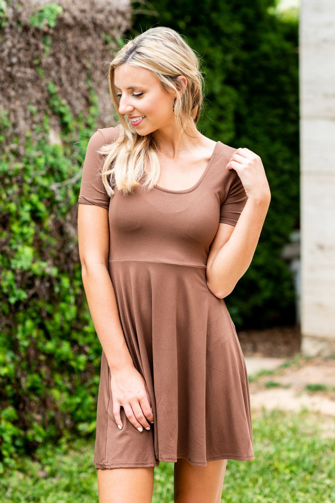 All The Way Up Dress, Mocha