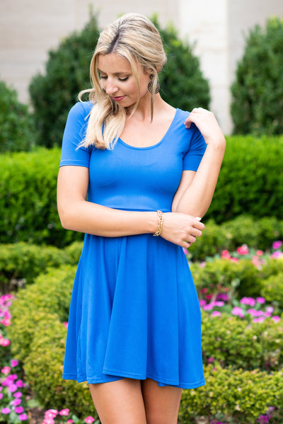 All The Way Up Dress, Royal Blue