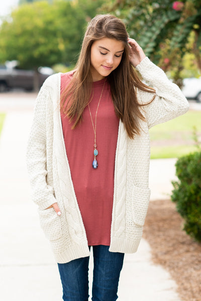 To Love Somebody Cardigan, Natural