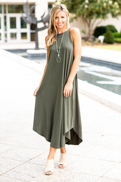 All Figured Out Maxi Dress, Olive