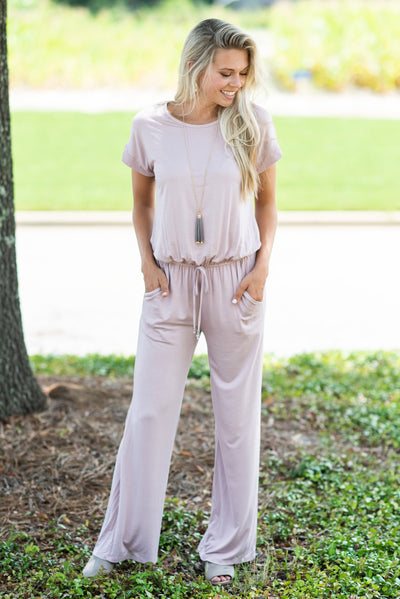 The Look Of Love Jumpsuit, Mauve