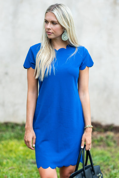 Starts with You Dress, Royal Blue