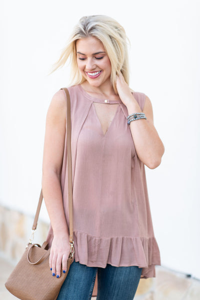 Check It Out Tunic, Dusty Rose