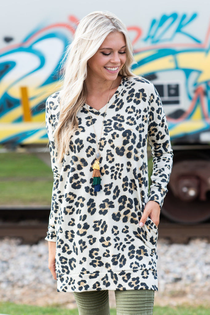 All The Love Tunic, Taupe