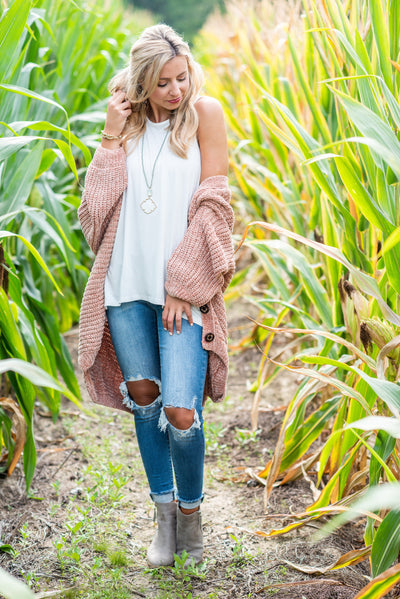 Created Comfort Cardigan, Blush