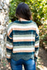 sweater, fall sweater, winter sweater, cozy sweater, long sleeve sweater, long sleeve fall sweater, striped long sleeve sweater, long sleeve winter sweater, round neck sweater, comfy sweater, olive sweater, olive long sleeve sweater