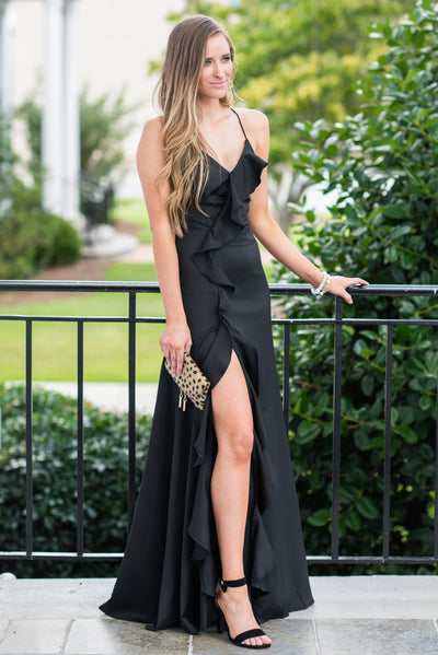 We Go Together Maxi Dress, Black