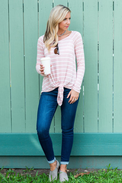 Dressed For Time Top, Blush