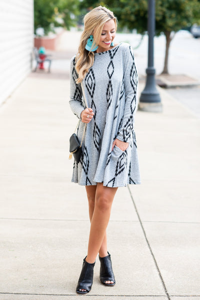 New To New Mexico Dress, Gray