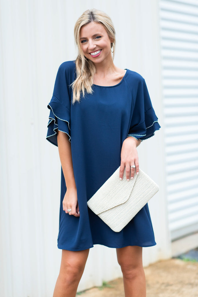 What A Beauty Dress, Navy