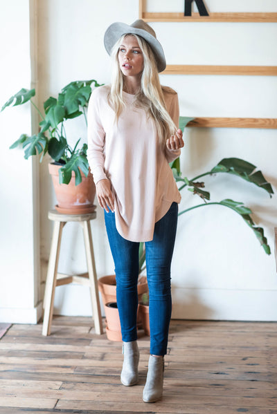 What It's All About Tunic, Pale Blush