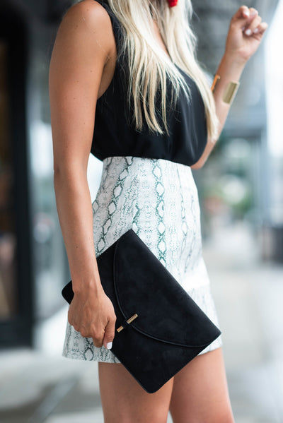 Chic Night Out Clutch, Black
