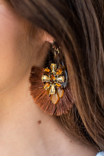Bring The Bold Earrings, Brown