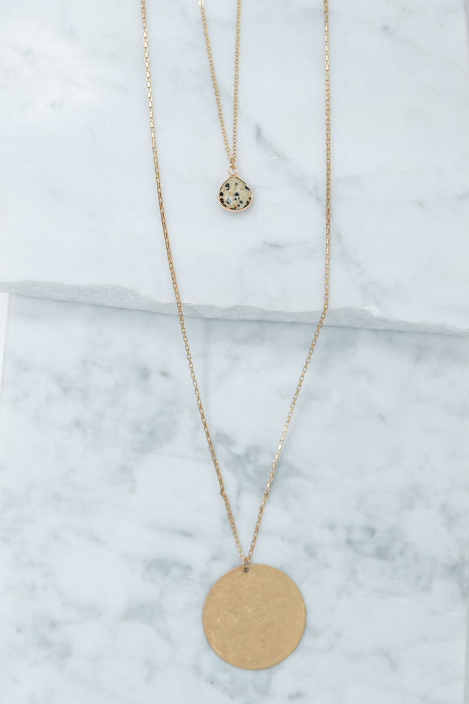 Located Fab Necklace, Gold