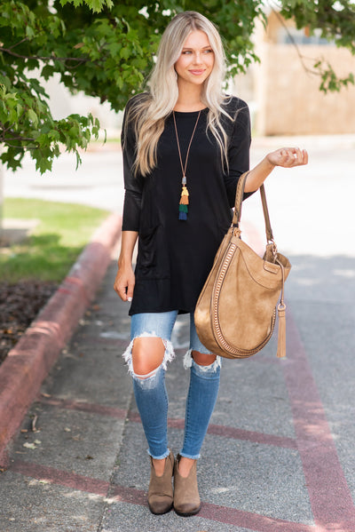 Medley In Love Tunic, Black