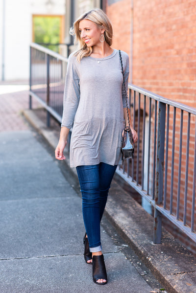 Medley In Love Tunic, Heather Gray