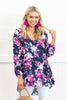 Running To You Tunic, Navy