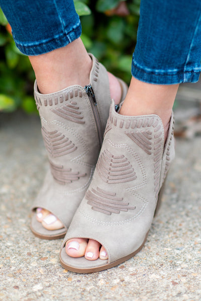 Reflection of Fab Booties, Taupe