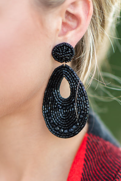 Something To Believe In Earrings, Black