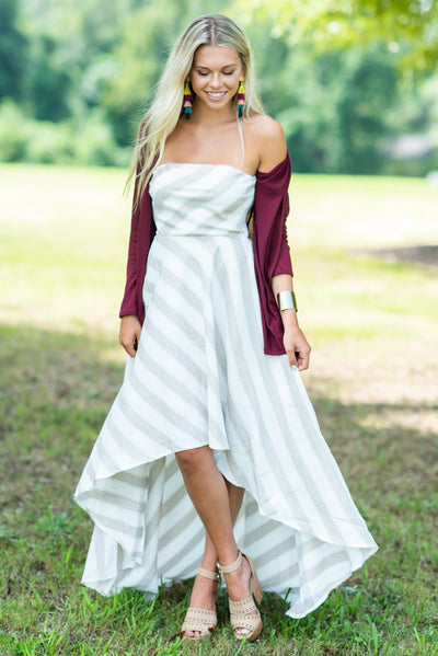 Love In The Air Maxi Dress, Taupe-Ivory