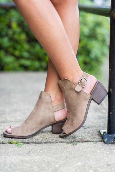 You're The Star Slingback Mules, Taupe