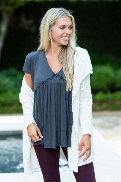 Movie Night Cardigan, Ivory