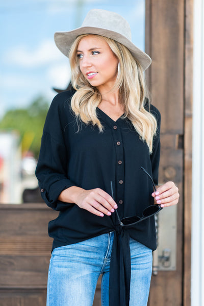 Keeping Classy Blouse, Black