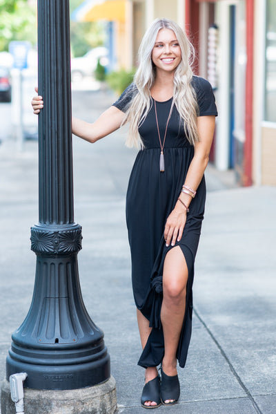 Wrapped In Love Maxi Dress, Black