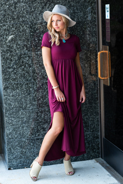 Wrapped In Love Maxi Dress, Burgundy