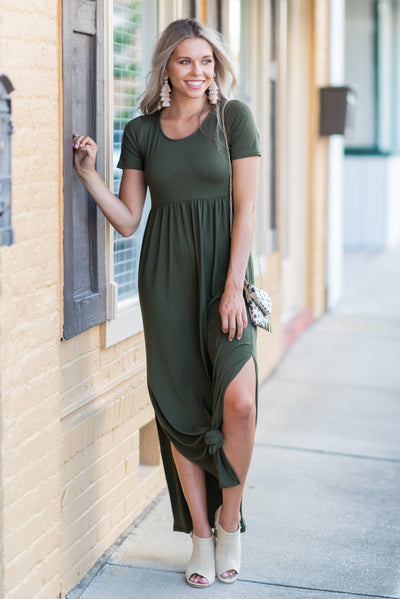 Wrapped In Love Maxi Dress, Olive