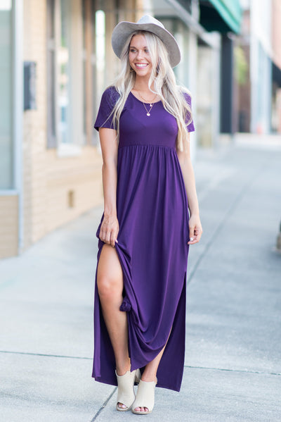 Wrapped In Love Maxi Dress, Plum